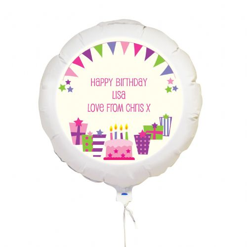 Personalised Pink Presents Balloon